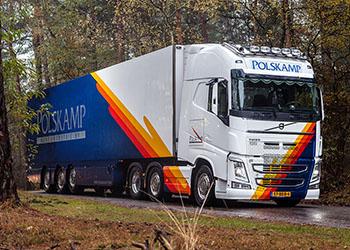Polskamp vrachtwagen